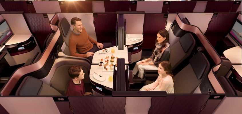 Qatar Airways Qsuite for New Zealand Business Class Travellers