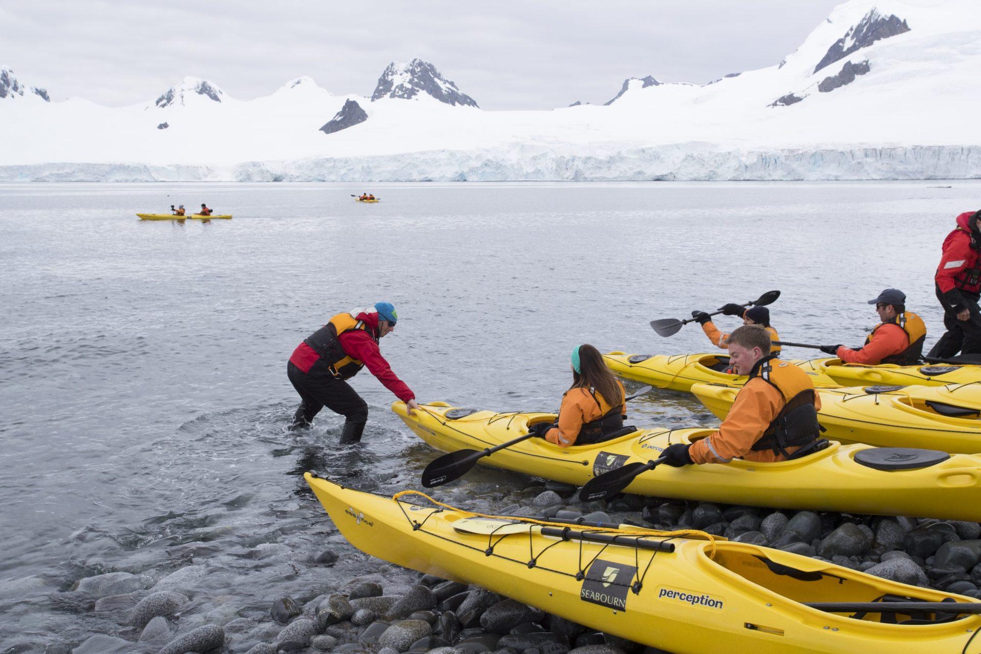 SBN-RSAY17-Kayaking Demonstration with Crew at Half Moon Island-Antarctica