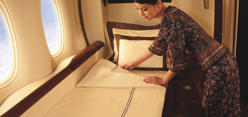 Singapore Airlines First and Business Class Seats from New Zealand